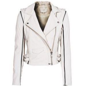 IRO leather biker jacket Asheville ozark 36 white